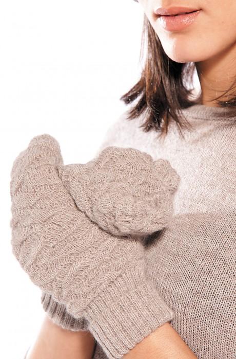 Alpaka Fausthandschuhe BIESEN aus 100% Baby Alpaka