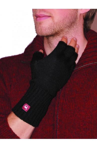 Alpaka Handschuhe HALBFINGER aus 100% Baby Alpaka