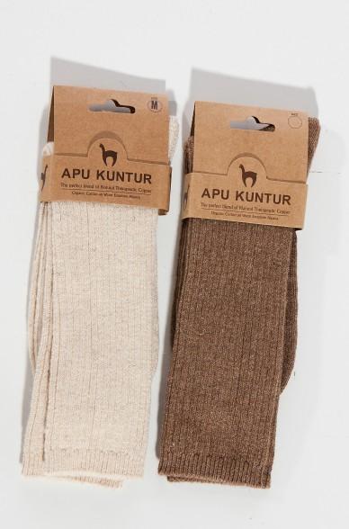 Alpaka KUPFER-STRÜMPFE aus  42% Alpaka & 40% Baumwolle