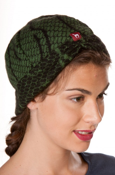 Alpaka Jaquard Mütze BOSKE aus 60% Alpaka und 40% Wolle