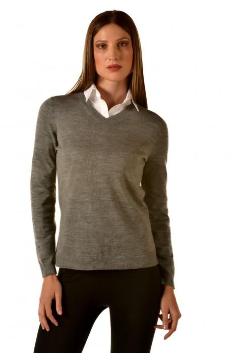 V-Ausschnitt Pullover ALMIBAR KUNA Essentials