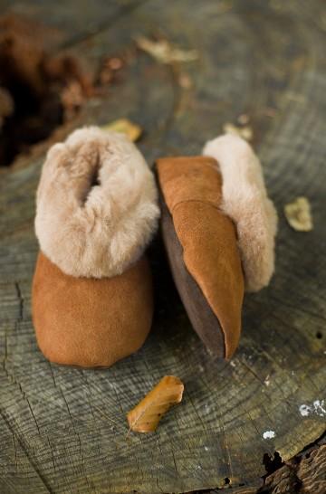Alpaka Fellpantoffeln (Gr. 26-34) aus 100% Schafwolle