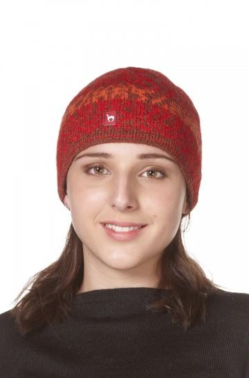 Alpaka Jacquard Mütze CHIMU aus 100% Baby Alpaka