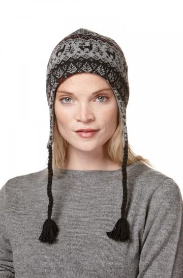 Inka-Mütze ANDEN VIENTOS Jacquard-Strick mit Ohrenklappen
