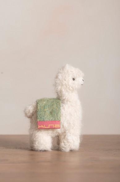 Woll-Alpaka Tier QÓNI MEDIANO Dekoration Plüschtier 11cm