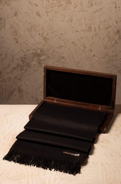 Vikunja Schal BASEL 30 cm x180 cm mit Fransen