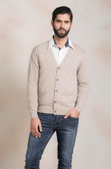 Alpaka Basic Herren Strickjacke ANTONY von KUNA Essentials