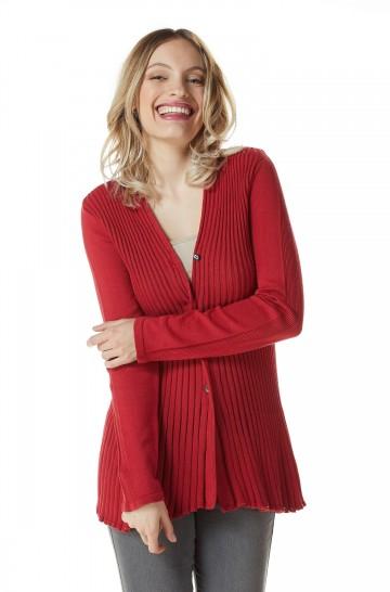 Feinstrick Cardigan FLOR aus Bio Pima Baumwolle für Damen