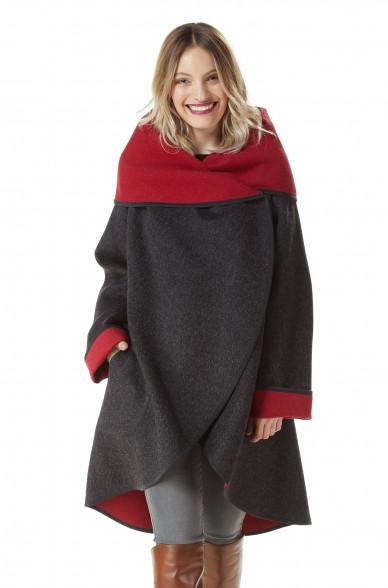 Alpaka Mantel FRINI aus Alpaka und Woll-Mix