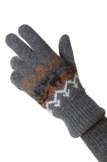 Wendbare Fingerhandschuhe NATURA Damen Herren Alpaka naturbelassen Öko