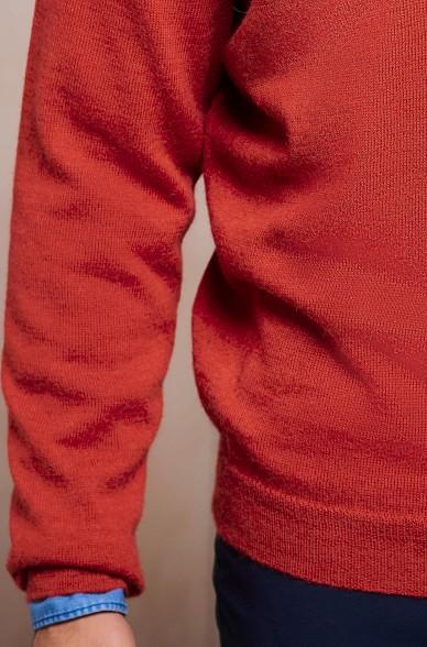 Strick-Pullover MULBERRY Herren Baby Alpaka doppelter V-Ausschnitt