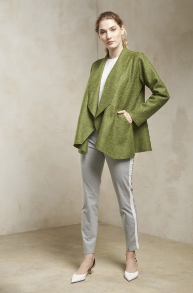 Filz-Mantel SIXTINE Damen Alpaka Wolle Revers-Kragen