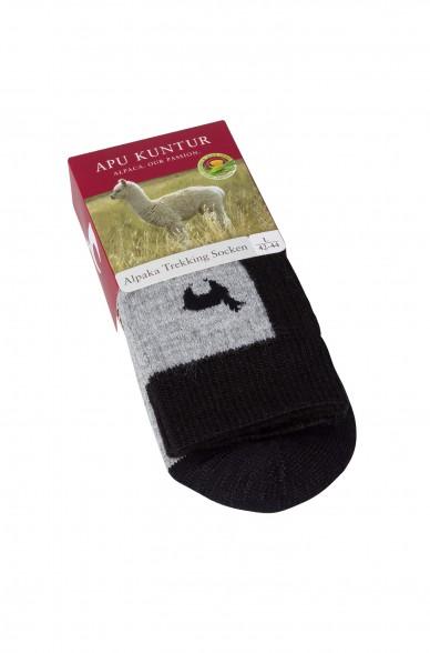 Alpaka TREKKING-SOCKEN Outdoor Woll-Strümpfe Wander-Stutzen von APU KUNTUR für Damen und Herren