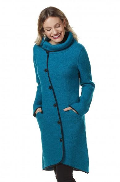 Mantel Damen ASI gewalkt Alpaka Wolle asymmetrisch