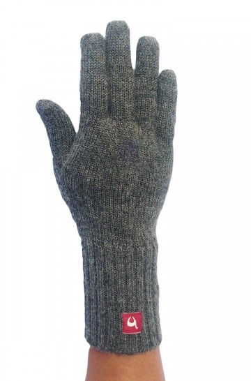Fingerhandschuhe UNI aus Baby Alpaka unifarben für Damen und Herren gestrickte Handschuhe