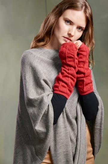 Pulswärmer TEMPO Handschuhe aus reinem Baby Alpaka für Damen