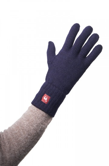 Damen Herren Fingerhandschuhe UNI aus Alpaka unifarben gestrickte Handschuhe
