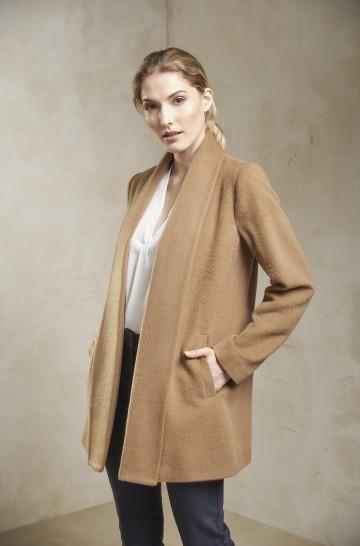 Mantel SHORT SWING Damen Alpaka Wolle