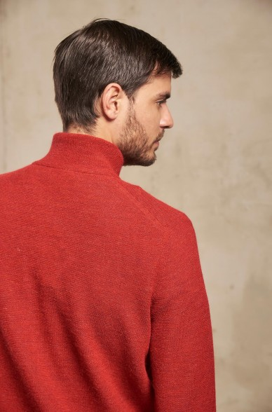 Troyer Pullover SAMED mit Zipper für Herren von KUNA