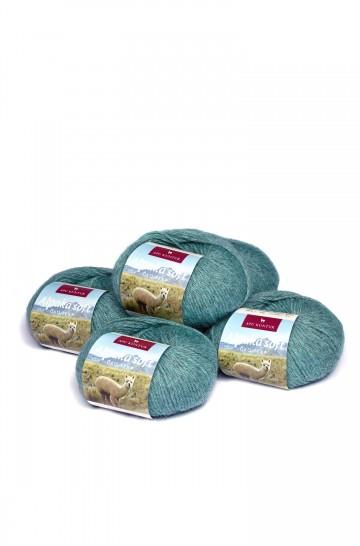 5er-Pack ALPAKA-SOFT Wolle 5x50g 100m Nadel 4-4,5 Strick-Häkel-Garn APU KUNTUR
