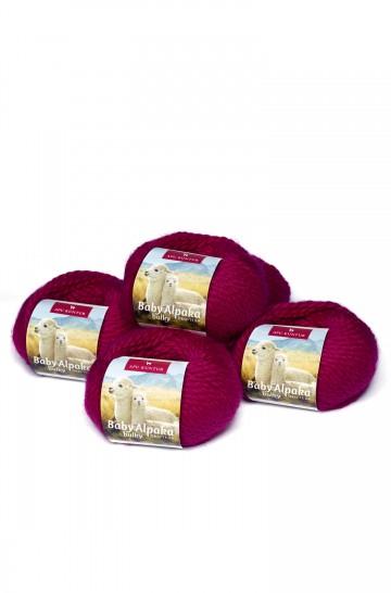 Alpaka Wolle BULKY | 50g | 5er Pack | 100% Baby Alpaka