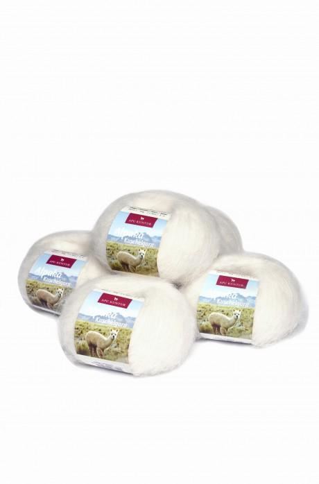 Alpaka Wolle KUSCHELGARN | 50g | 5er Pack |  89% Alpaka Superfine