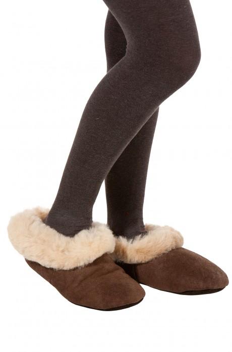 Alpaka Fellpantoffeln (Gr. 36-46) aus 100% Schafwolle