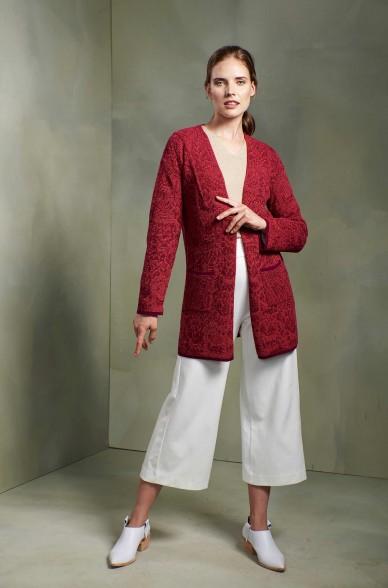 Cardigan TAPAY Strickjacke aus reinem Baby Alpaka für Damen