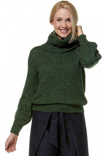 Rollkragen Pullover SALOMON aus Baby-Alpaka und Merino für Damen