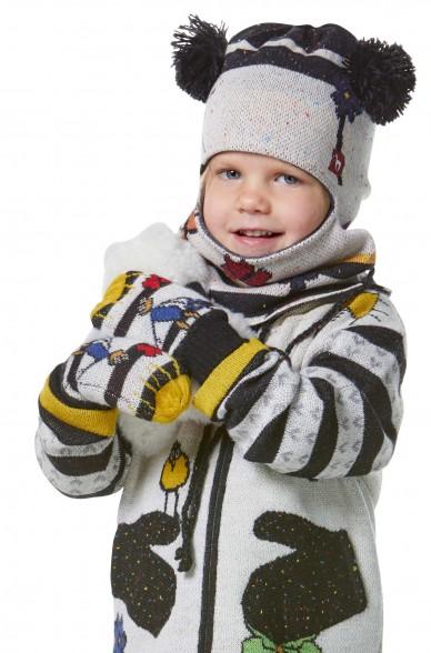 Alpaka Fäüstlinge AMOR für Kinder aus 70% Baumwolle