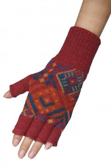 Apaka Fingerlose Handschuhe TUPAC aus 100% Baby Alpaka
