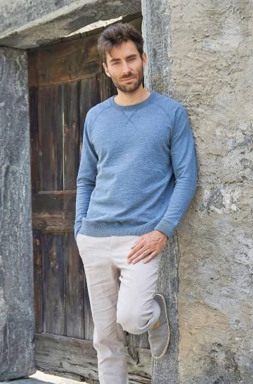 Pullover JANIS aus Royal Alpaka und Bio Baumwolle für Herren
