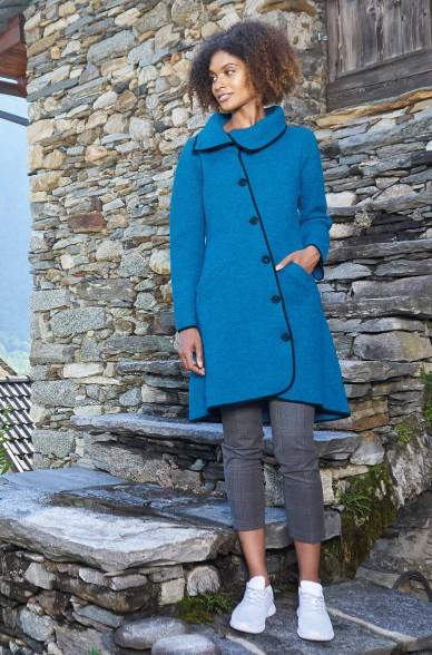 Alpaka Mantel ASI aus Alpaka und Wolle