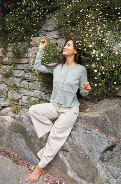 Strickjacke HANNA aus Bio Pima Baumwolle
