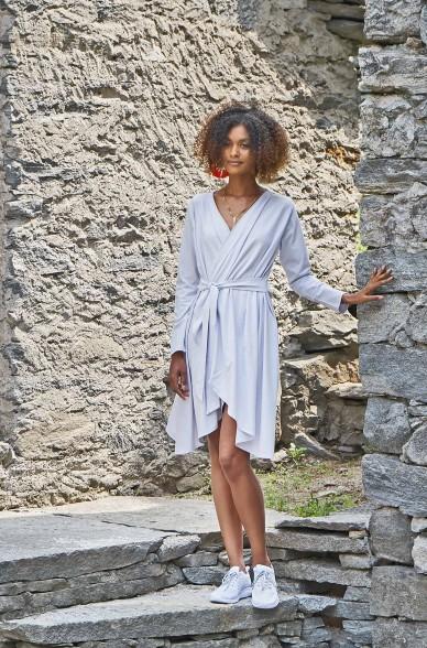 Cardigan Kleid LAMEC aus Pima Bio Baumwolle