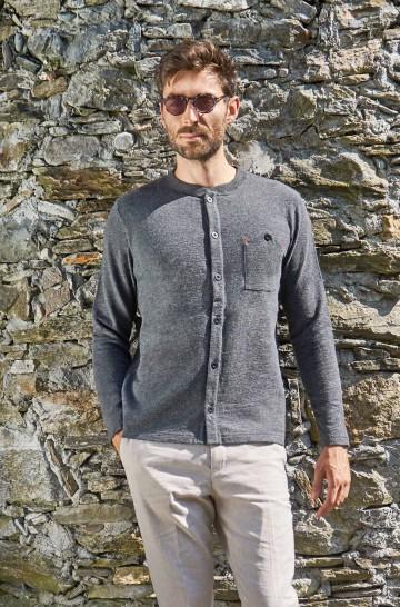 Cardigan GERSON aus Royal Alpaka und Bio Baumwolle für Herren