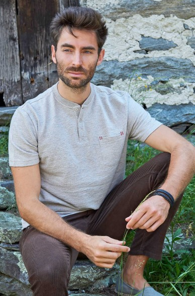 T-Shirt JAHLEEL aus 10% Royal Alpaka & 90% Bio Baumwolle