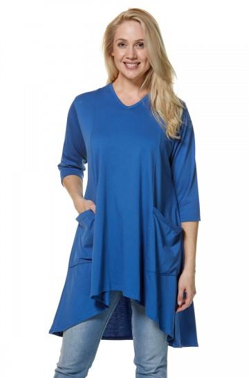 Weite Jersey-Sommer-Tunika DARCY aus Bio-Pima-Baumwolle für Damen