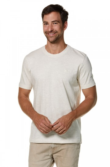 T-Shirt Rundhals aus Bio-Baumwolle und Royal-Alpaka für Herren