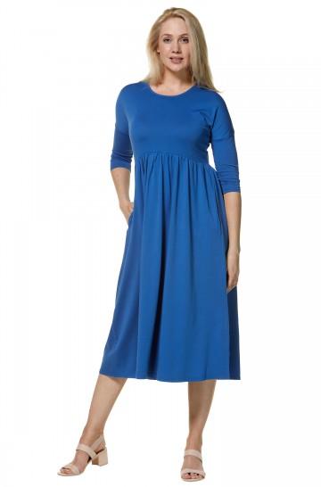 Maxi-Jersey-Kleid ALBA aus Bio-Pima-Baumwolle für Damen