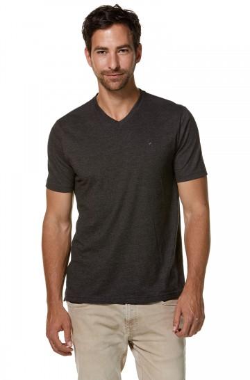 T-Shirt V-Neck aus Bio-Baumwolle und Royal-Alpaka für Herren