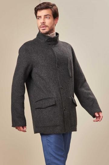 Mantel UBER mit Knopfleiste aus Baby Alpaka und Wolle
