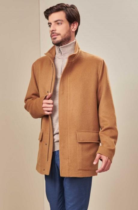 Mantel UCHUMAYO mit Reißverschluss aus Baby Alpaka und Wolle