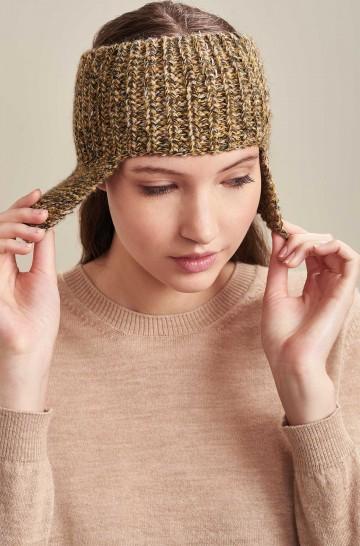Stirnband Mütze UACHIPA mit Ohrenklappen aus Baby Alpaka
