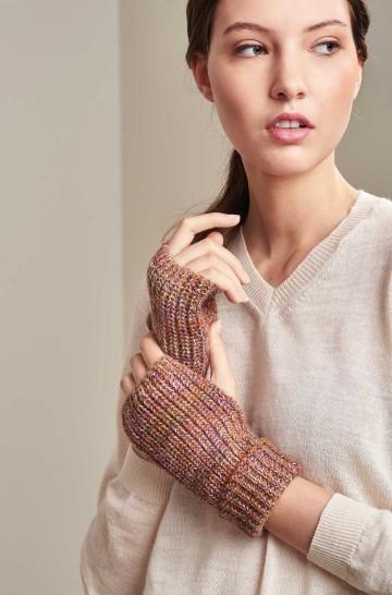 Pulswärmer fingerlose Handschuhe UBICATE aus Baby Alpaka