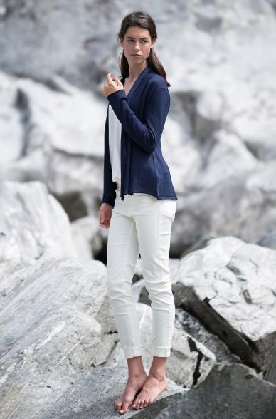 Alpaka Strickjacke PENELOPE aus 100% Baby Alpaka