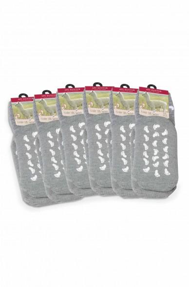 Alpaka Socken Kinder ABS 6er Pack (Gr. 30-35) aus 50% Baby Alpaka