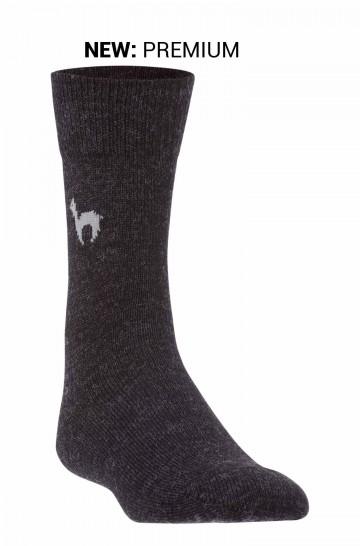 Baby Alpaka PREMIUM BUSINESS SOCKEN elegante Strick-Socke mit APU KUNTUR Logo für Herren und Damen