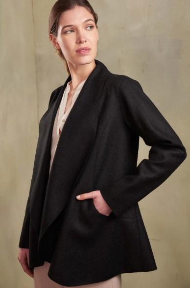 Mantel SIXTINE aus Baby Alpaka und Wolle für Damen