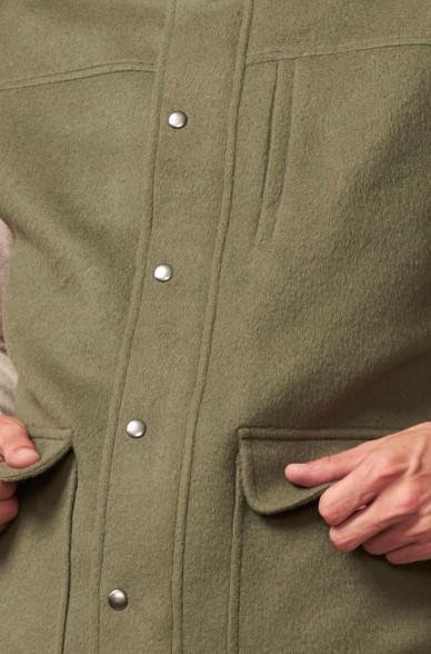 Weste URS mit Druckknöpfen aus Baby Alpaka und Wolle